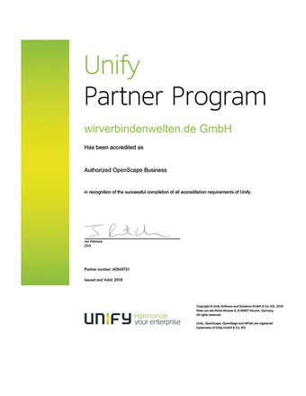 Unify Partner Program Accreditation 2018
