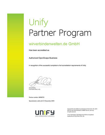 Unify Partner Program Accreditation 2019
